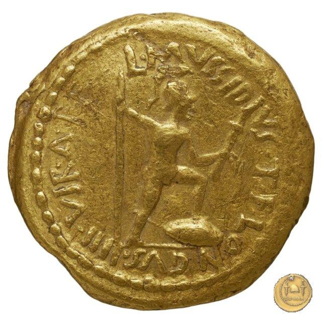 494/7 - aureo M. Aemilius Lepidus / L. Mussidius Longus 42BC (Roma)