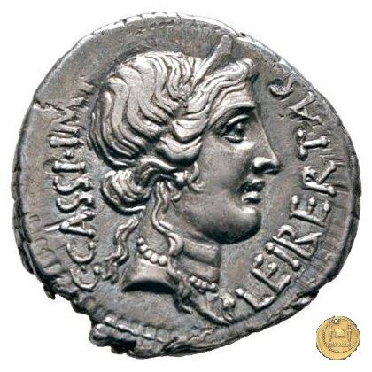 500/3 - denario C. Cassius Longinus / L. Cornelius Lentulus Spinther 43-42a.C. (Itinerante con Cassius)