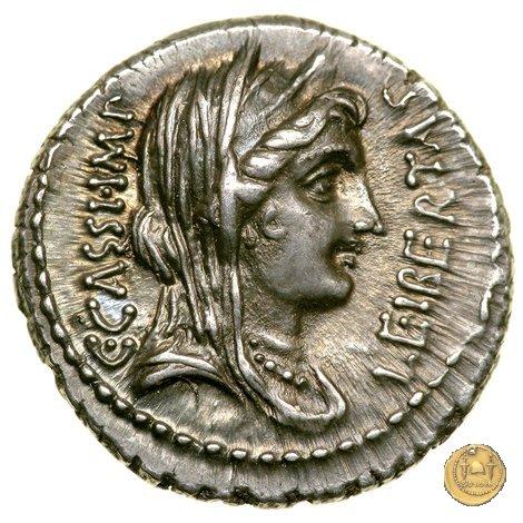 500/5 - denario C. Cassius Longinus / L. Cornelius Lentulus Spinther 43-42BC (Itinerante con Cassius)