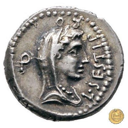 502/2 - denario M. Iunius Brutus / L. Sestius 43-42a.C. (Itinerante con Brutus)