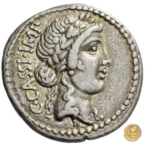 505/2 - denario C. Cassius Longinus / M. Servilius C.f. 43-42a.C. (Itinerante con Cassius)