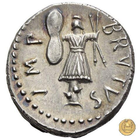 506/2 - denario M. Iunius Brutus / Pedanius Costa 43-42BC (Itinerante con Brutus)