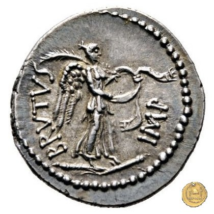 507/2 - denario M. Iunius Brutus / P. Servilius Casca Longus 43-42a.C. (Itinerante con Brutus)