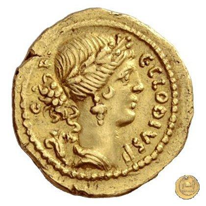 512/1 - aureo C. Clodius C.f. Vestalis 41BC (Roma)