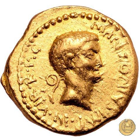 516/4 - aureo M. Antonius 41BC (Itinerante con M. Antonius)