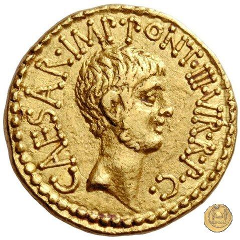 517/1 - aureo M. Antonius / C. Iulius Caesar Octavianus / M. Barbatius 41BC (Itinerante con M. Antonius)