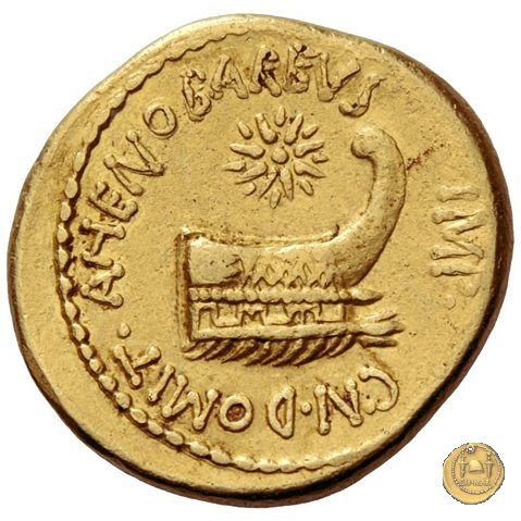 521/1 - aureo M. Antonius / Cn. Domitius Ahenobarbus 40BC (Itinerante con M. Antonius)