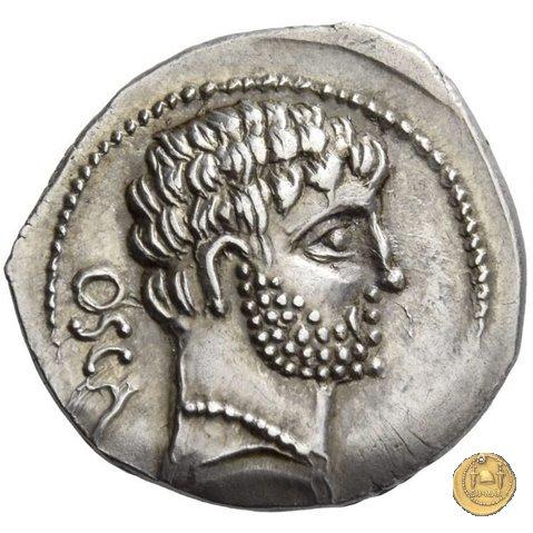 532/1 - denario Cn. Domitius M.f.M.n. Calvinus 39a.C. (Osca)