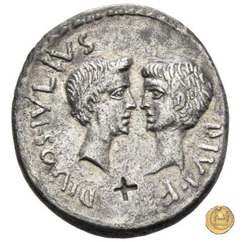 534/2 - denario C. Iulius Caesar Octavianus / M. Vipsanius Agrippa 38BC (Itinerante con Octavianus)