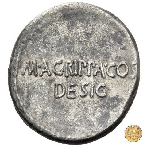 534/2 - denario C. Iulius Caesar Octavianus / M. Vipsanius Agrippa 38a.C. (Itinerante con Octavianus)