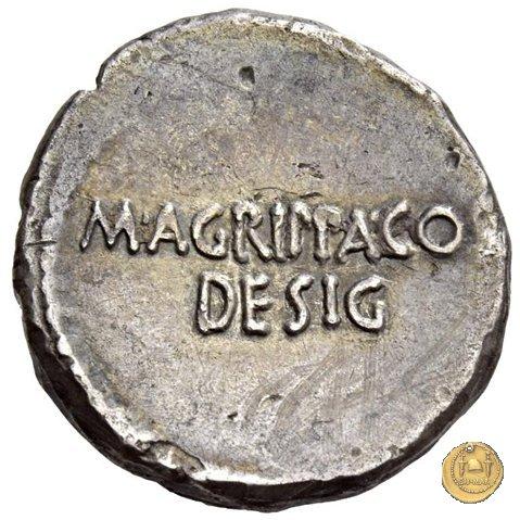 534/3 - denario C. Iulius Caesar Octavianus / M. Vipsanius Agrippa 38a.C. (Itinerante con Octavianus)