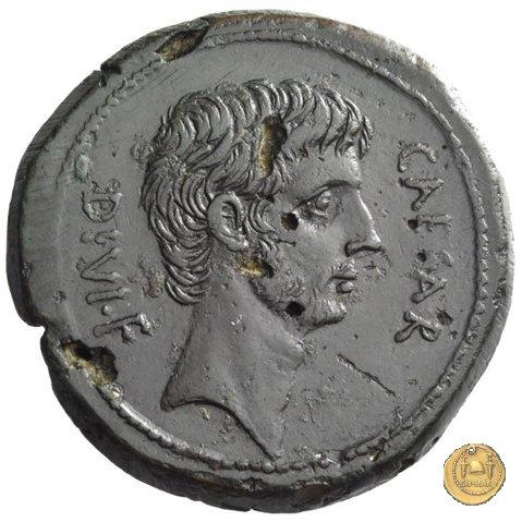 535/1 - bronzo C. Iulius Caesar Octavianus 38a.C. (Italia)