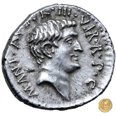 536/1 - denario M. Antonius 37BC (Itinerante con M. Antonius)