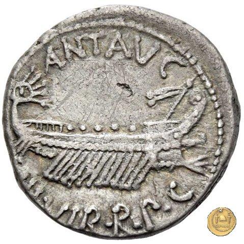 544/12 - denario CHORTIS SPECVLATORVM 32-31a.C. (Itinerante con M. Antonius)