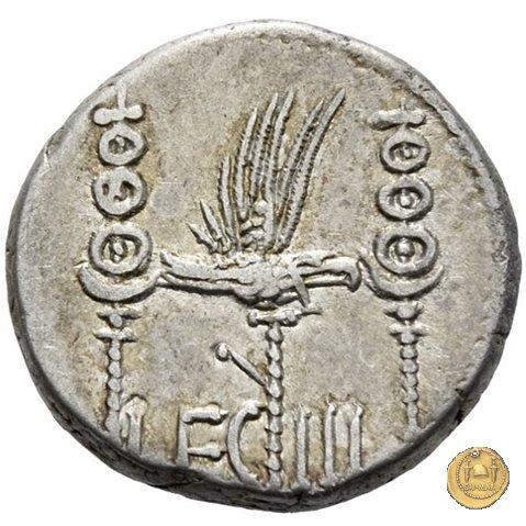 544/15 - denario LEG. III (legionis tertiae) 32-31BC (Itinerante con M. Antonius)