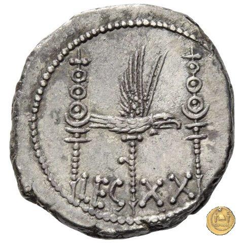 544/36 - denario LEG. XX (legionis vigesimae) 32-31a.C. (Itinerante con M. Antonius)