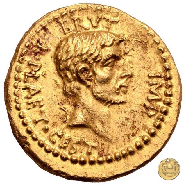 aureo M. Iunius Brutus / L. Plaetorius Cestianus 43-42BC (Itinerante con Brutus)