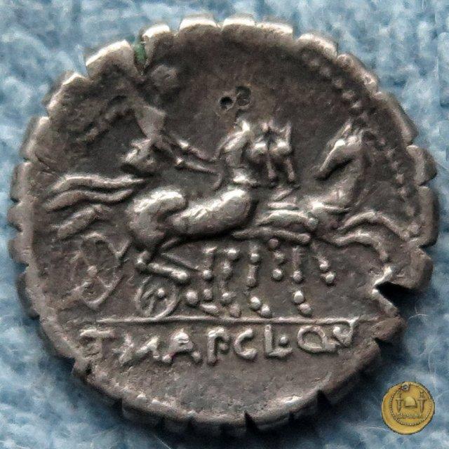 299/1b - denario T. Manlius Mancinus/ Ap. Claudius Pulcher/ Q. Urbiniu 111-110BC (Roma)