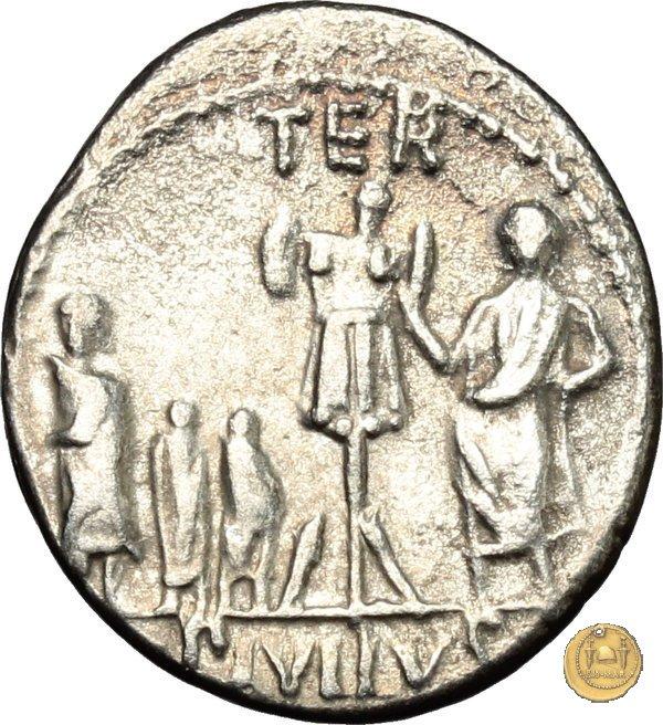 415/1 - denario L. Aemilius Lepidus Paullus 62BC (Roma)