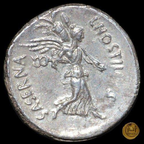 448/1 - denario L. Hostilius Saserna 48a.C. (Roma)